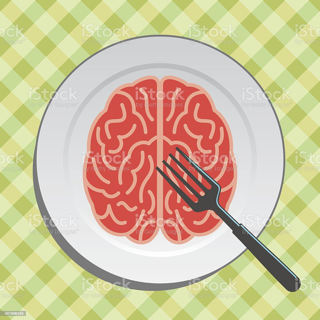 brain food on plate royalty-free stock vector art