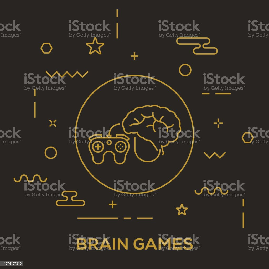 Brain Games Concept Stock Illustration - Download Image Now