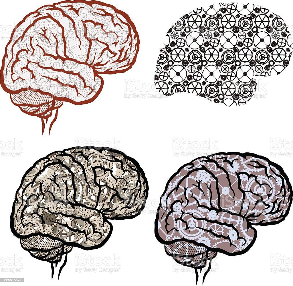 Ingranaggi del cervello - illustrazione arte vettoriale
