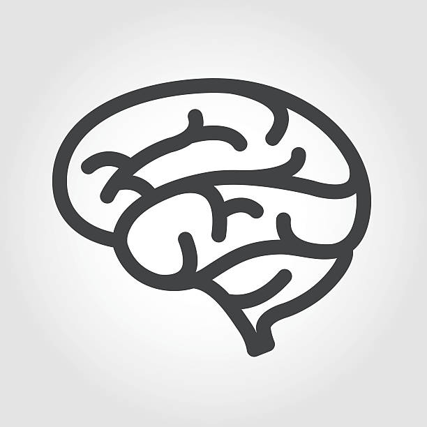 Brain Icon - Iconic Series Graphic Elements, Brain,  biofeedback stock illustrations