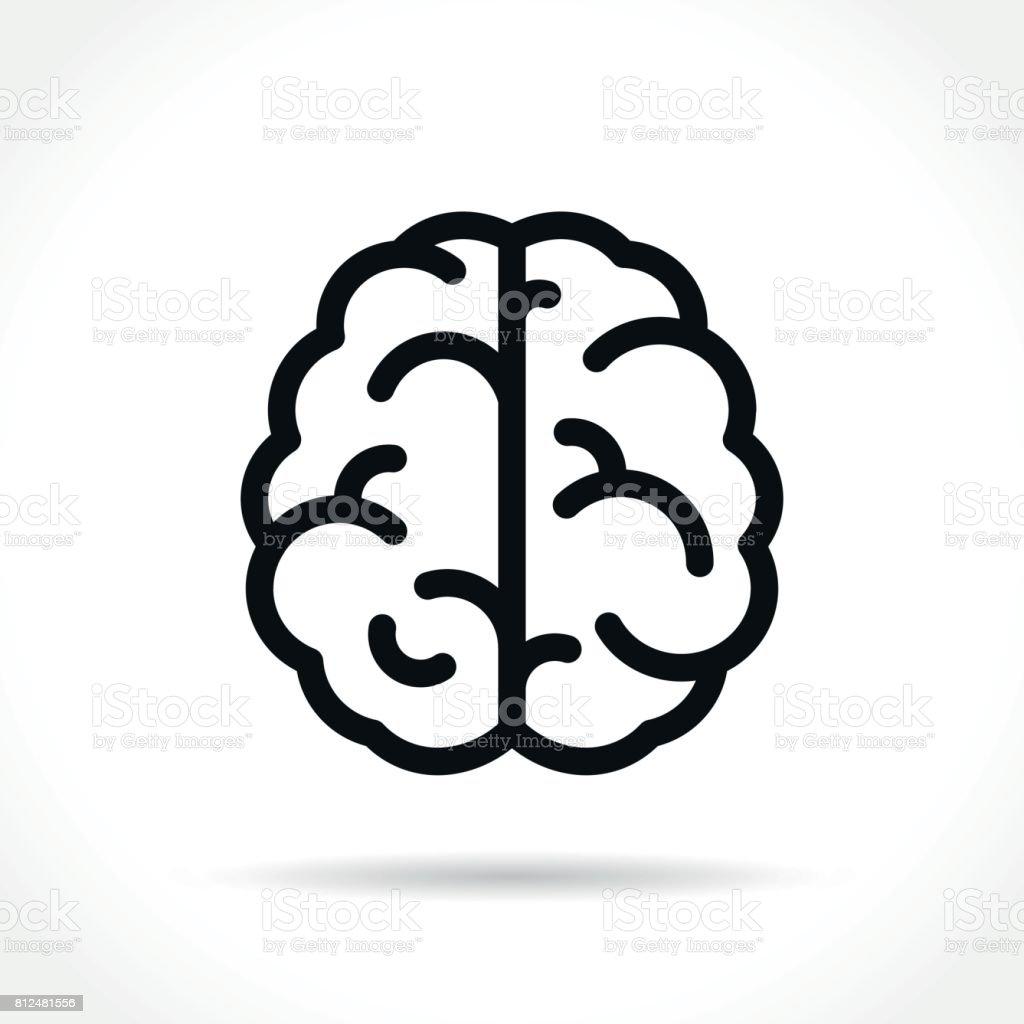 brain icon on white background - illustrazione arte vettoriale