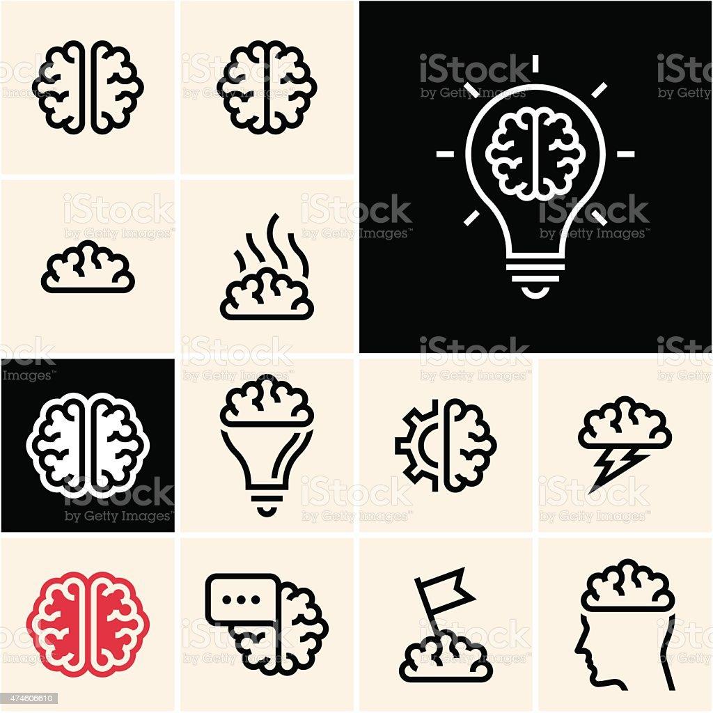 Icona del cervello - illustrazione arte vettoriale