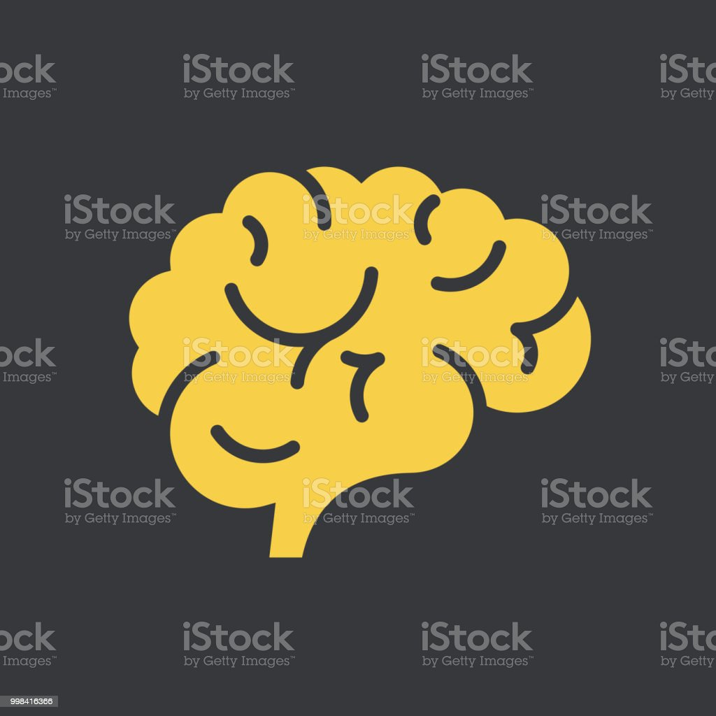 뇌 아이콘크기 - 로열티 프리 건강관리와 의술 벡터 아트