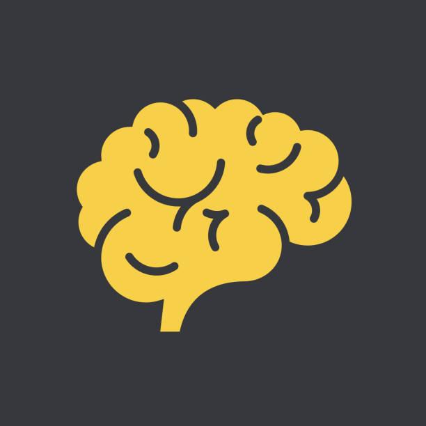 ilustraciones, imágenes clip art, dibujos animados e iconos de stock de icono de cerebro - brain