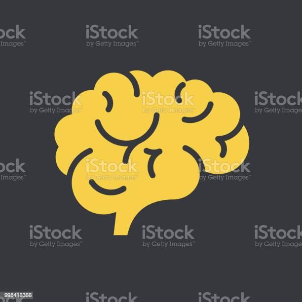 뇌 아이콘크기 건강관리와 의술에 대한 스톡 벡터 아트 및 기타 이미지