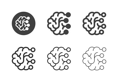 Brain Icons - Multi Series