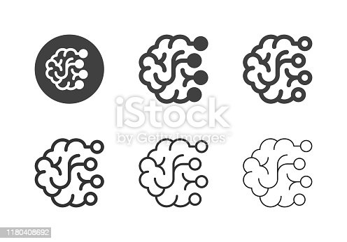 Brain Icons Multi Series Vector EPS File.