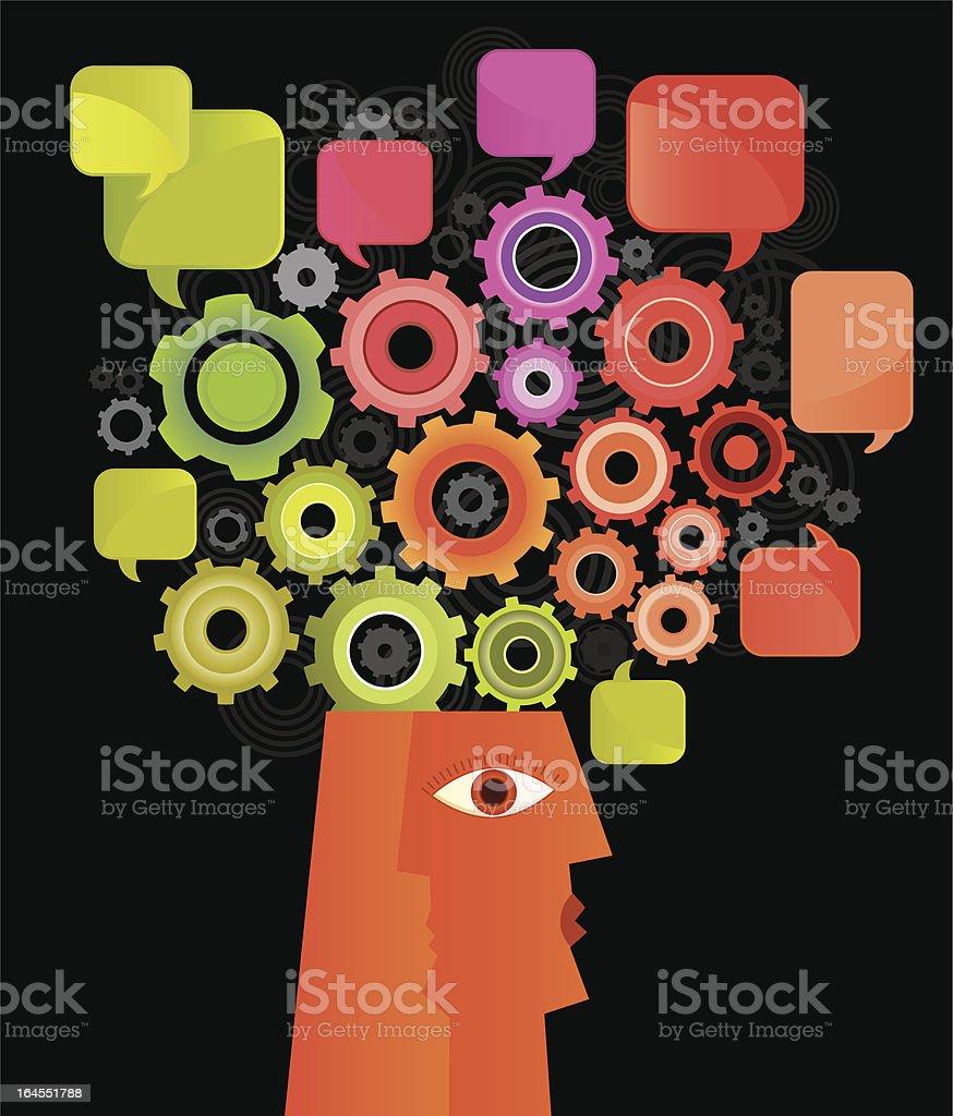 Brain in Progress royalty-free stock vector art