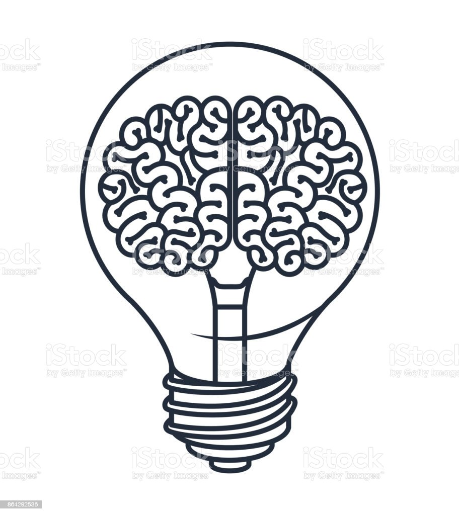 brain inside bulb isolated icon design royalty-free brain inside bulb isolated icon design stock vector art & more images of backgrounds