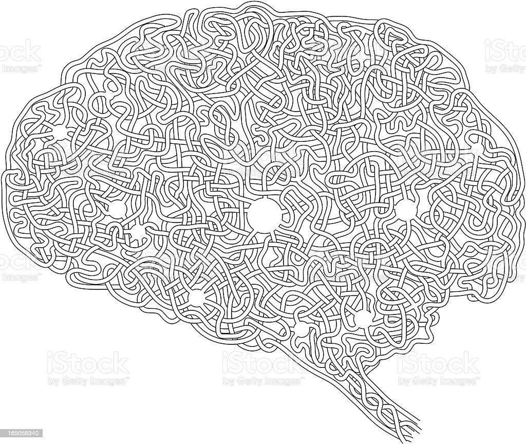 Gehirn Labyrinth Stock Vektor Art und mehr Bilder von Aktivitäten ...