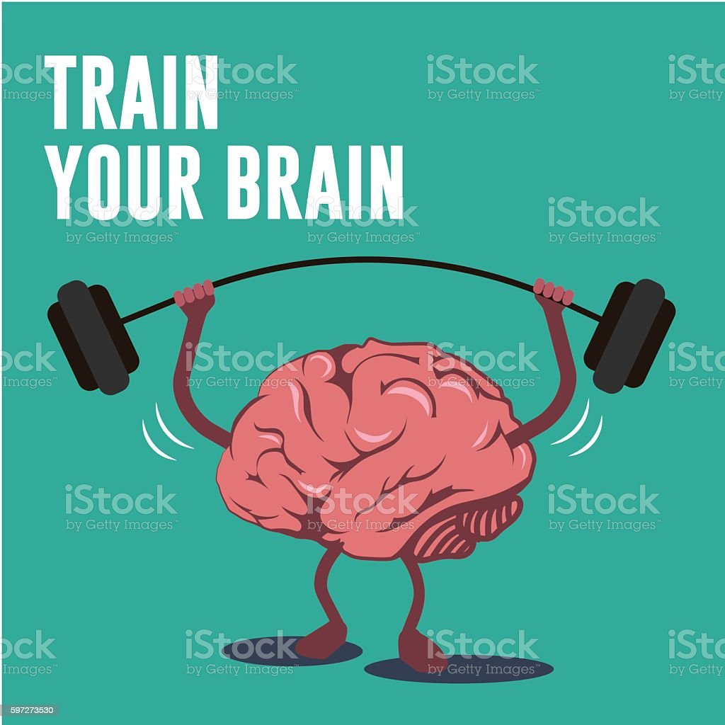 Brain lifting bar illustration - illustrazione arte vettoriale
