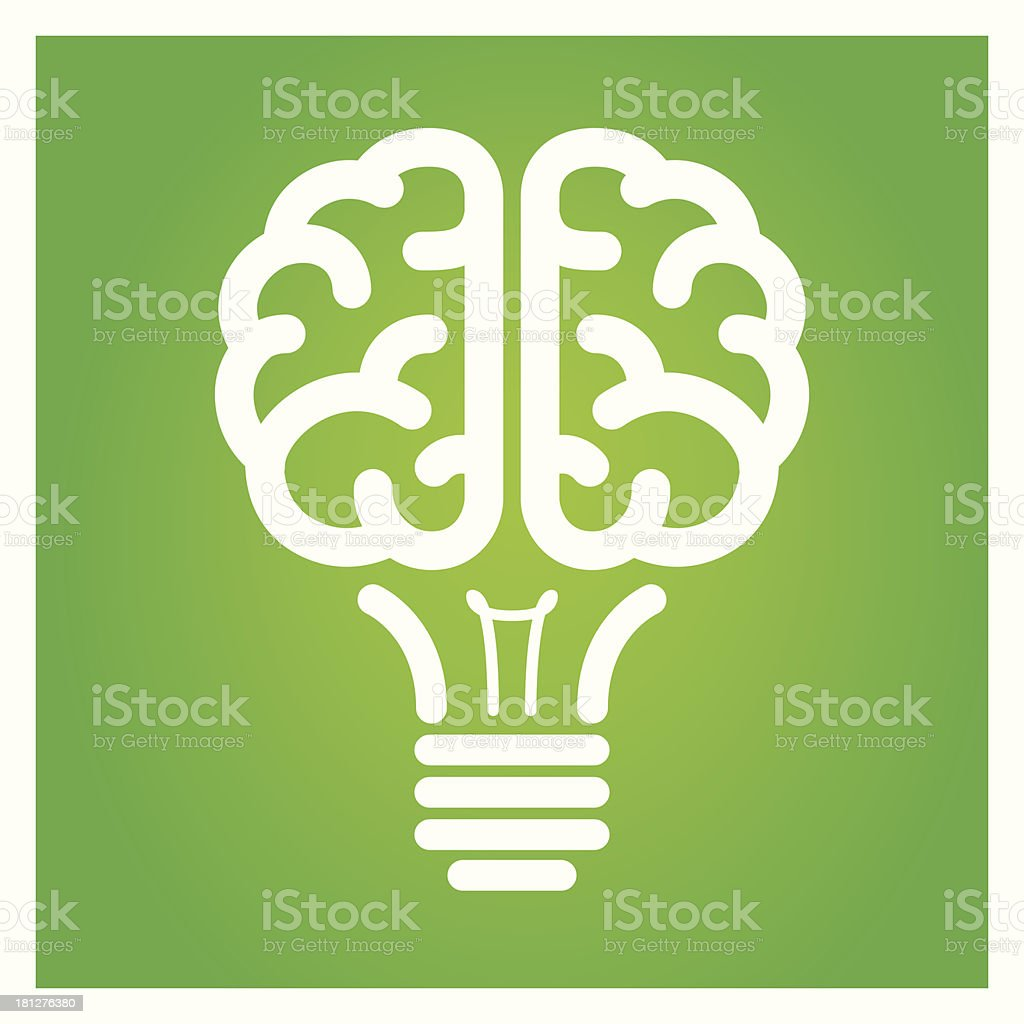 Brain light bulb icon illustration vector art illustration