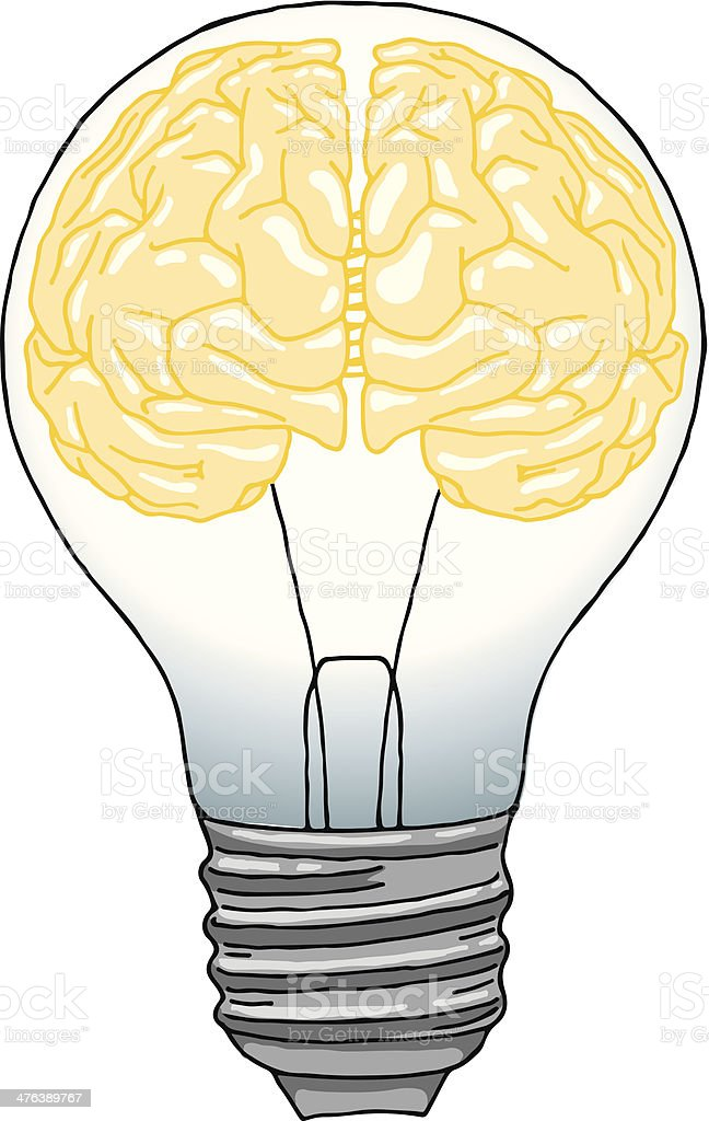 brain light bulb stock vector art amp more images of advice