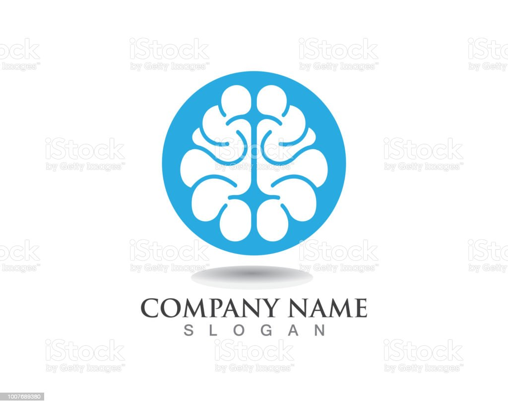 Brain Logo Template And Symbols Icons App Stock Vector Art & More ...