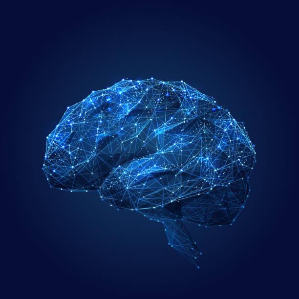 ilustraciones, imágenes clip art, dibujos animados e iconos de stock de polietileno bajo de cerebro azul - brain