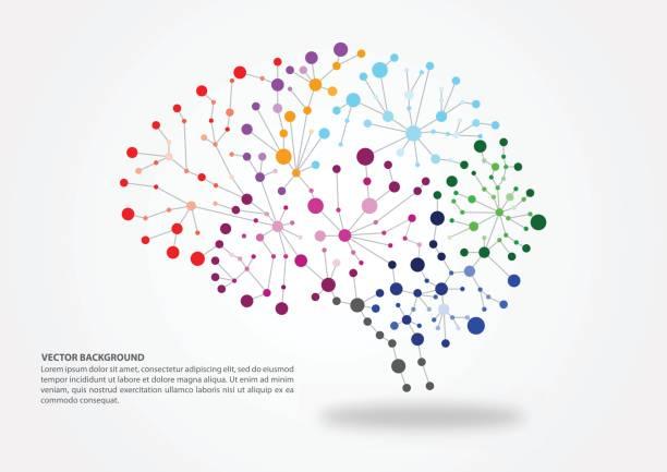 ilustraciones, imágenes clip art, dibujos animados e iconos de stock de concepto de mapeo cerebral - brain