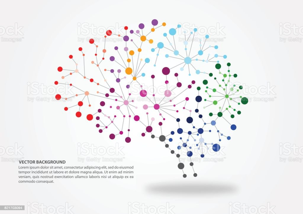 Brain mapping concept vector art illustration