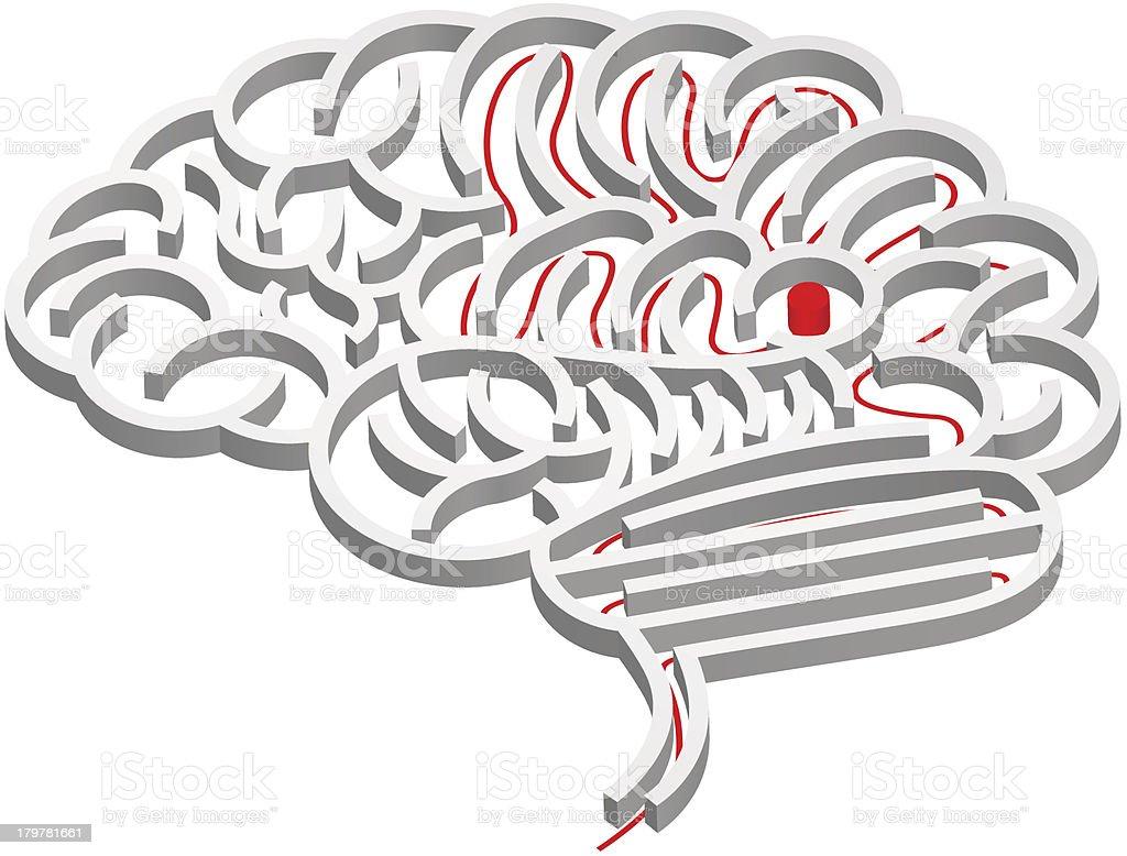 Brain maze concept royalty-free brain maze concept stock vector art & more images of activity