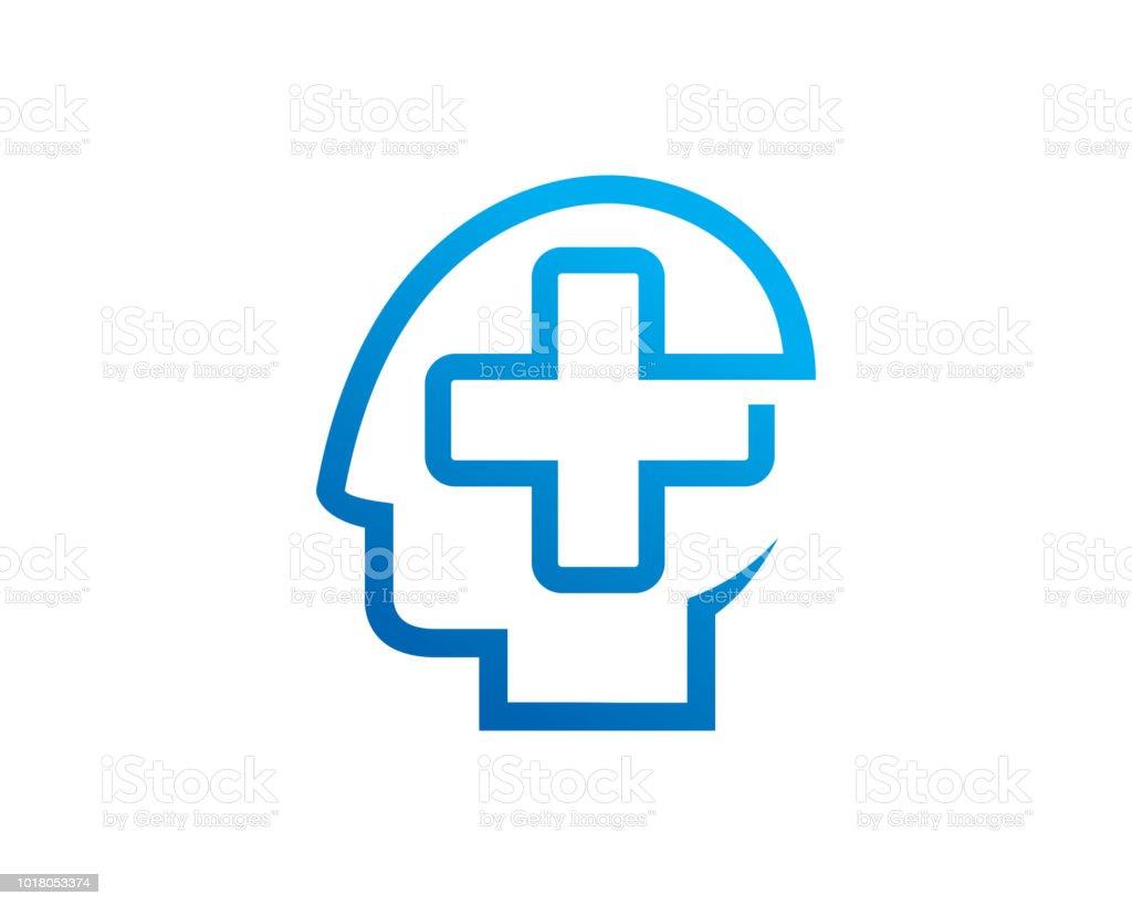 brain medic symbol template design vector emblem design concept