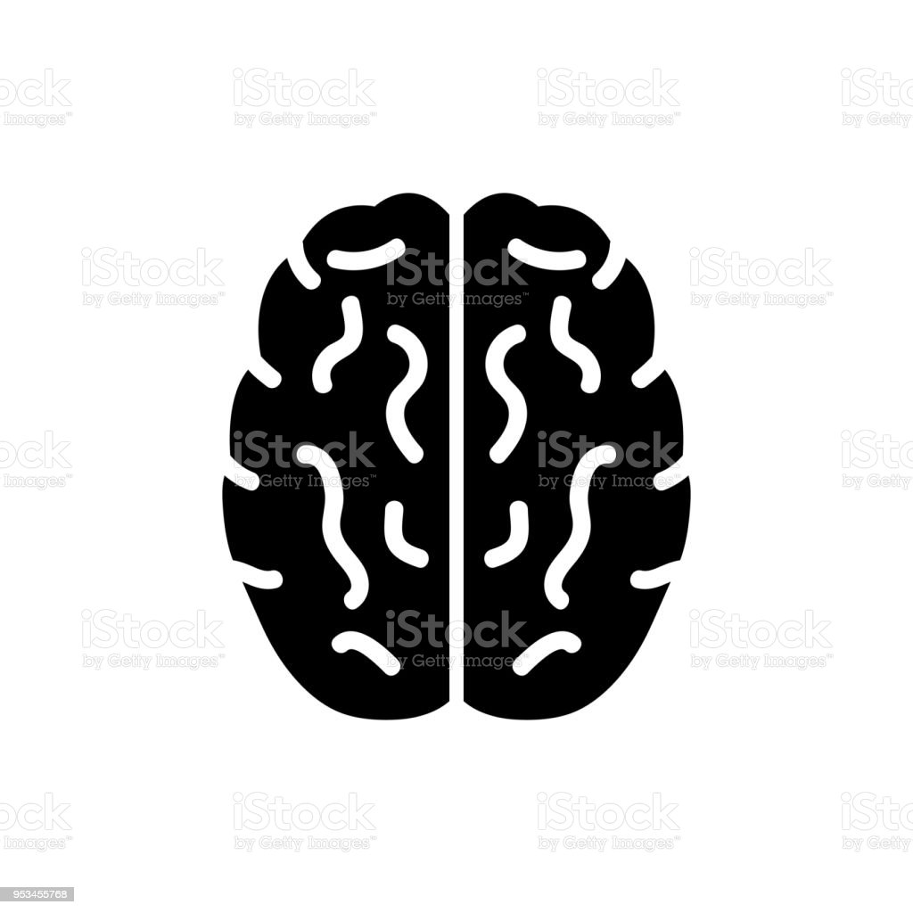 Brain, mind or intelligence flat icon for apps and websites - illustrazione arte vettoriale