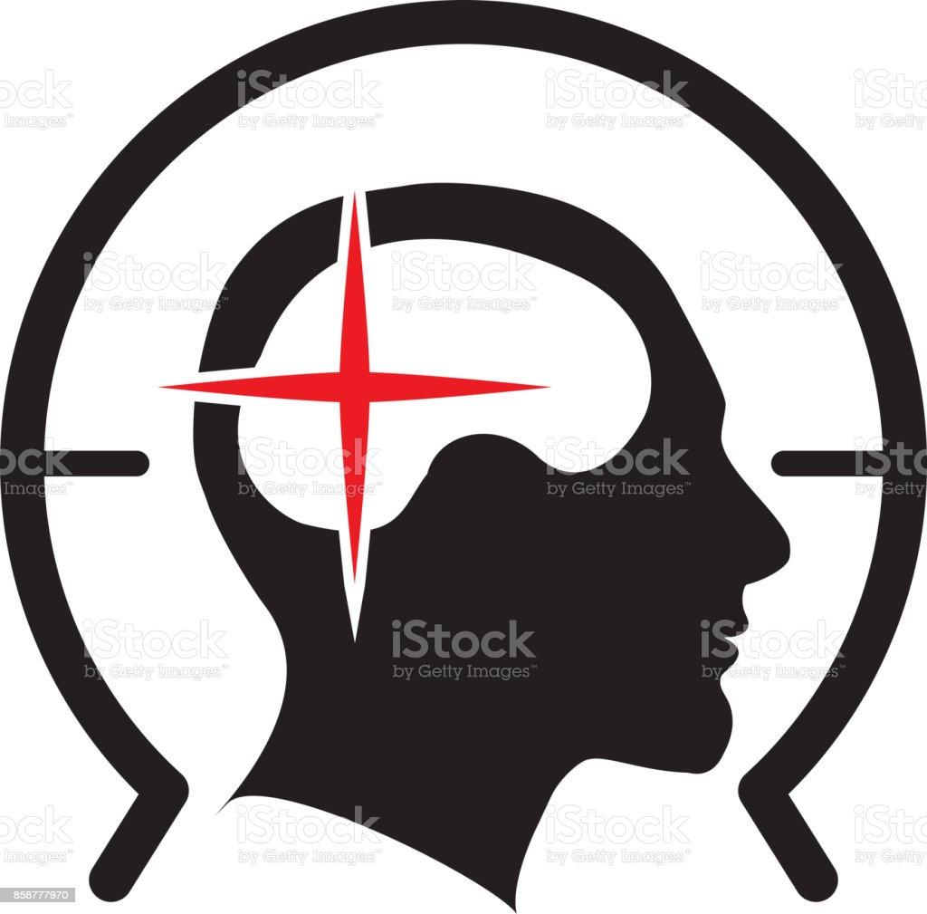 Brain MRI Icon vector art illustration