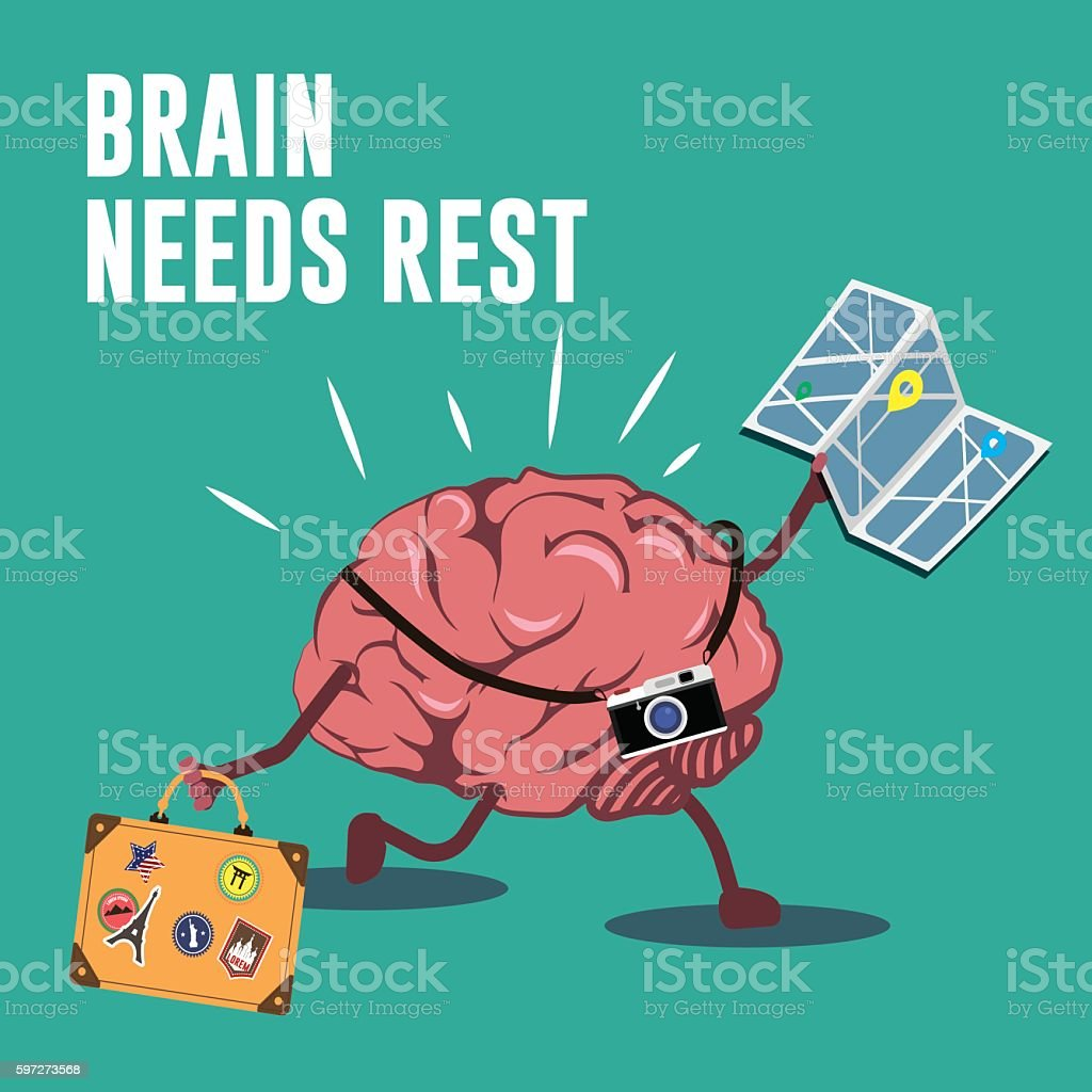 Brain needs rest illustration royalty-free brain needs rest illustration stock vector art & more images of adventure