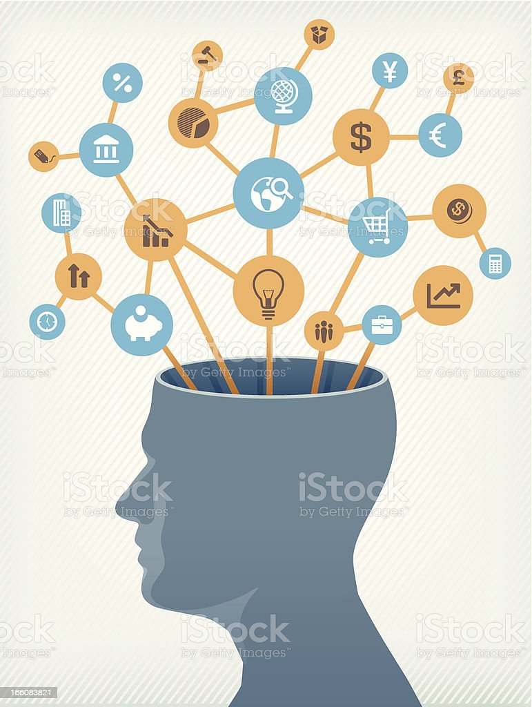 Brain of a businessman royalty-free stock vector art