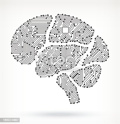 Brain On Circuit Board Stock Vector Art & More Images of