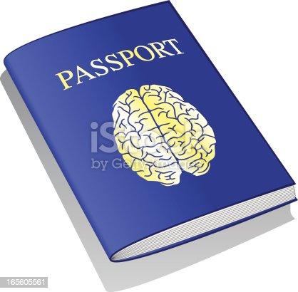 Brain with passport.