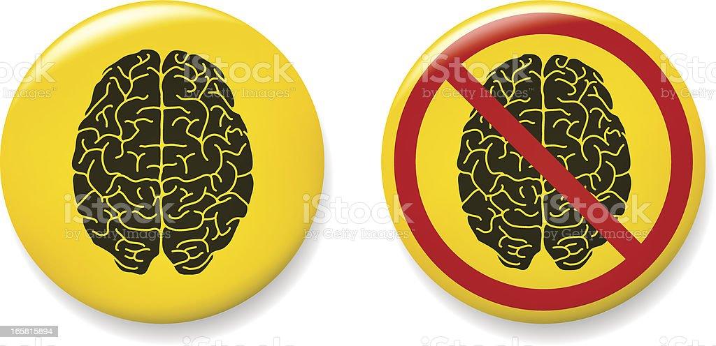 Brain pins royalty-free stock vector art