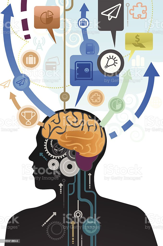 Brain Process vector art illustration