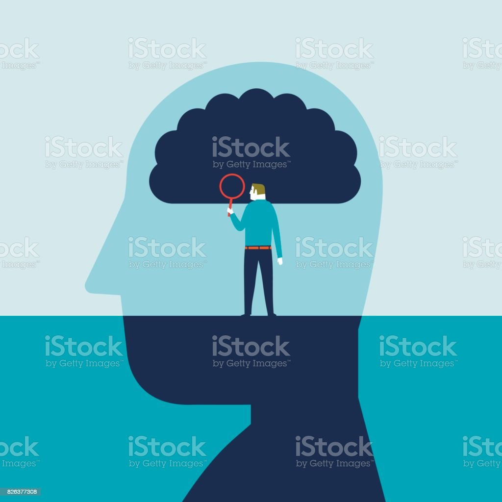 Brain Research vector art illustration
