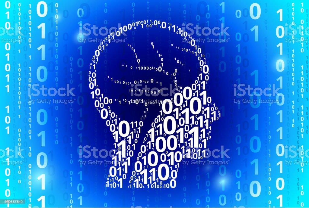 Scintigraphie Cérébrale De Code Binaire Vecteur Bleu Fond – Cliparts ...