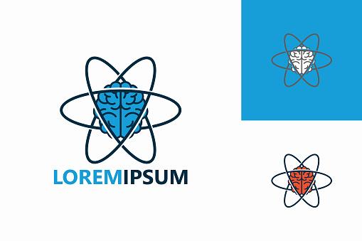 Brain Science Logo Template Design Vector, Emblem, Design Concept, Creative Symbol, Icon