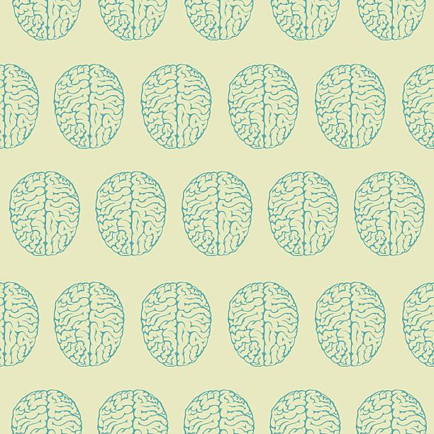 Brain seamless tile vector art illustration