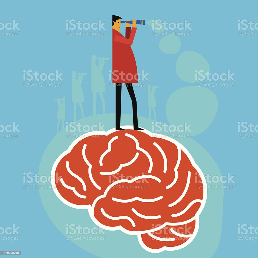 brain searching idea royalty-free stock vector art