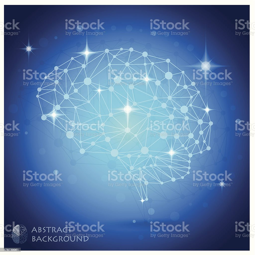 Brain Shape Abstract Geometric Background royalty-free stock vector art