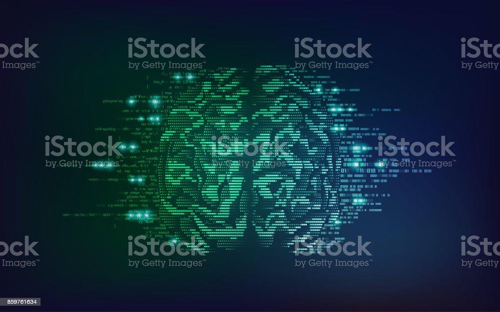 Lado del cerebro - ilustración de arte vectorial