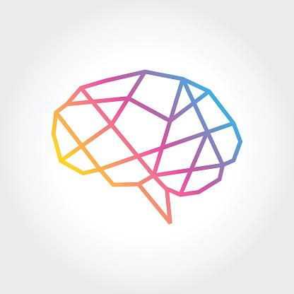 Gehirn Silhouette Vektor Entwurfsvorlage Denke Idee Konzept Stock Vektor Art und mehr Bilder von Betrachtung