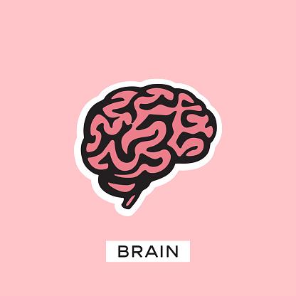 Brain silhouette vector template. Think idea concept. Brainstorm