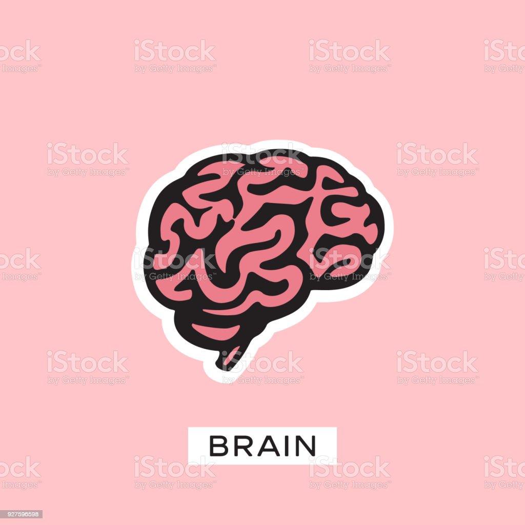 Brain silhouette design vector template. Think idea concept. vector art illustration