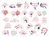 Brain stickers set