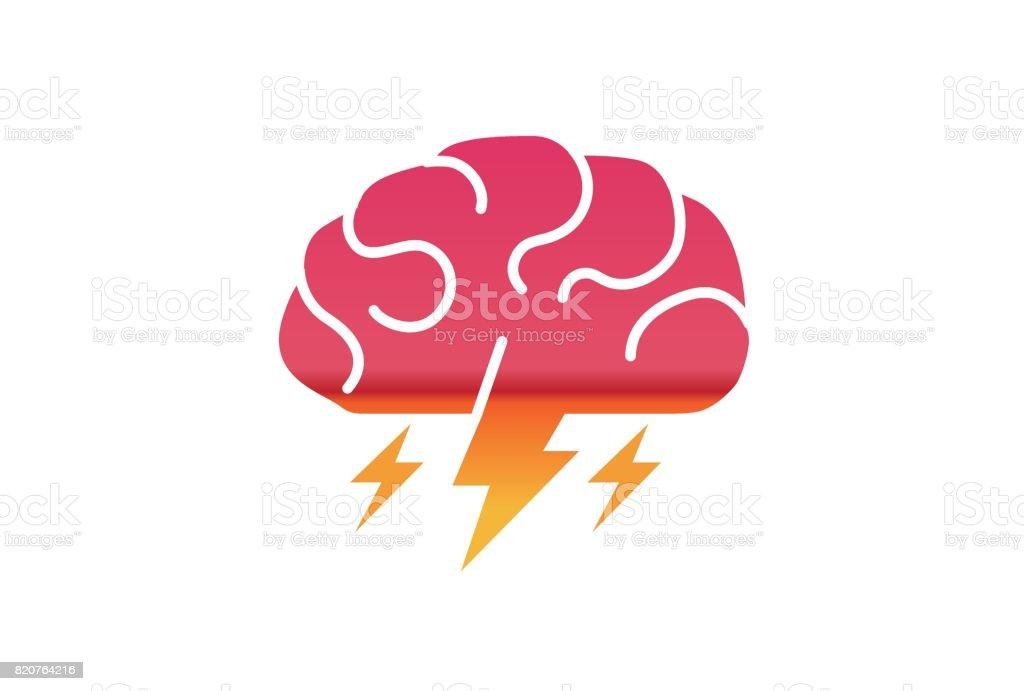 Brain Storm Design-Symbol – Vektorgrafik