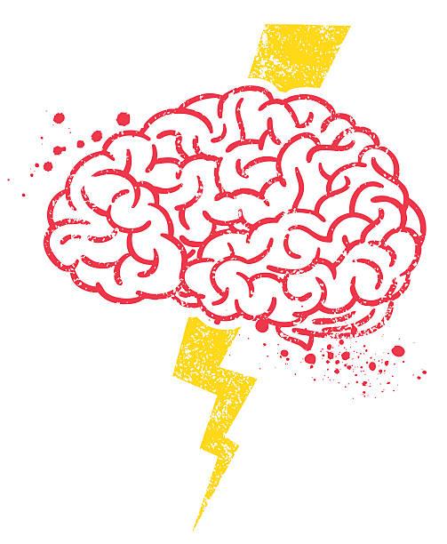 Brain Storm Brain Storm Symbol. forked lightning stock illustrations