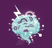 Vector illustration - Brain Storm