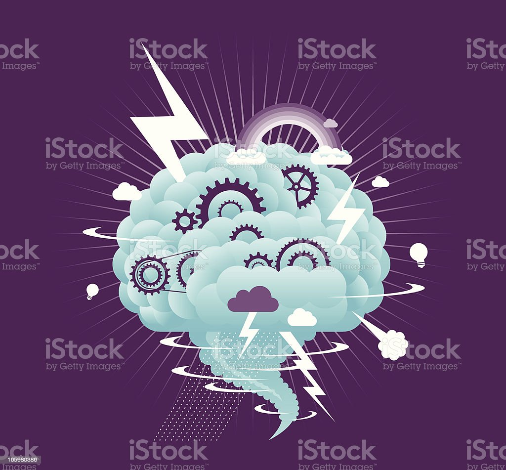 Brain Storm vector art illustration