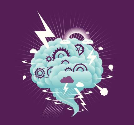 Brainstorm meeting stock illustrations