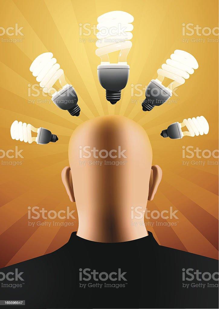 Brain storming vector art illustration