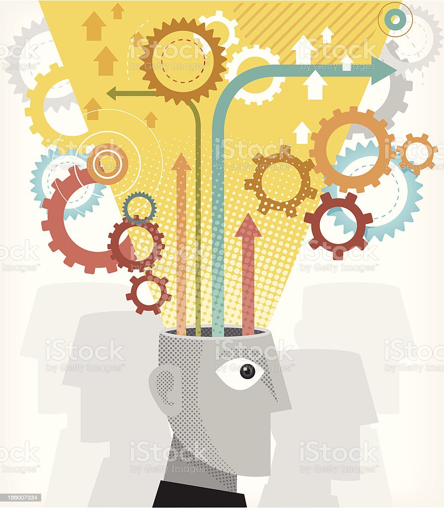 brain storming royalty-free stock vector art