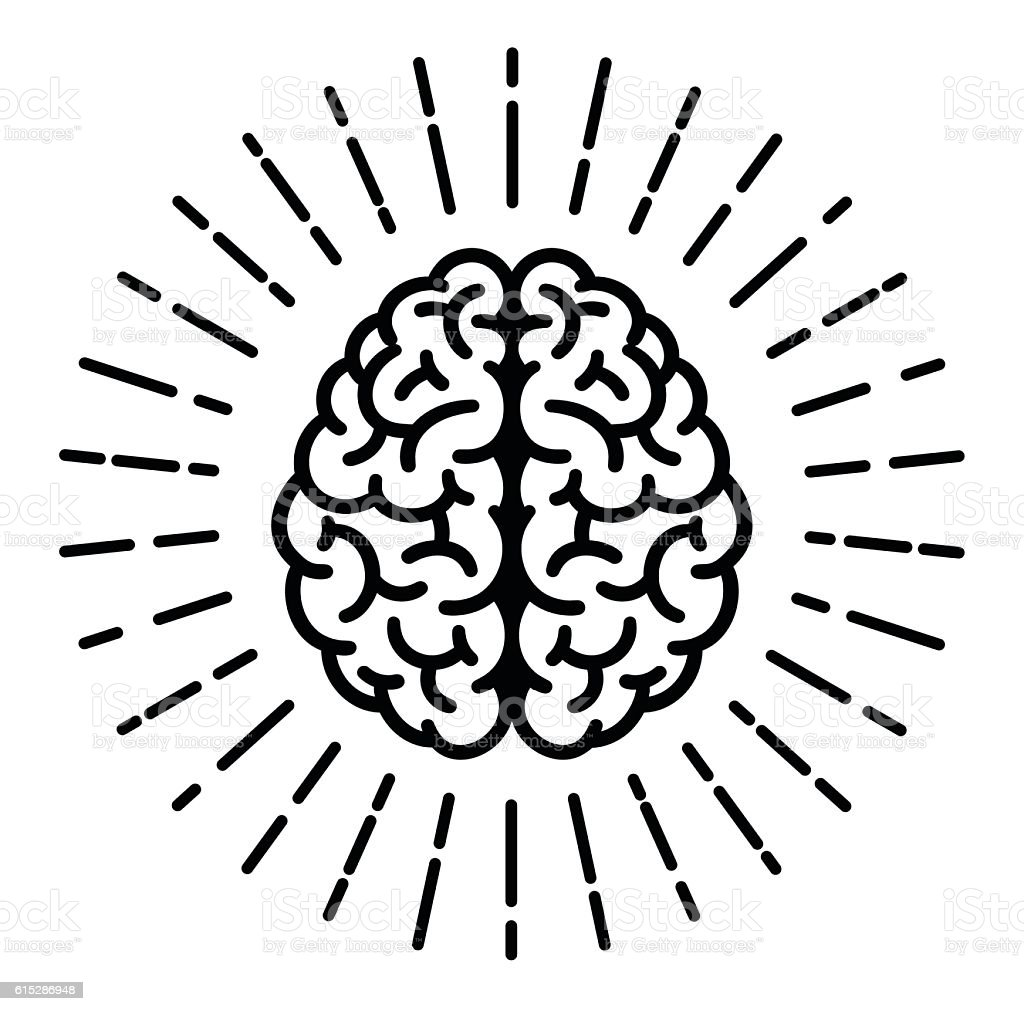 Brain Symbol vector art illustration